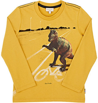 Paul Smith Dinosaur-Print Cotton Jersey T-Shirt-YELLOW $65 thestylecure.com