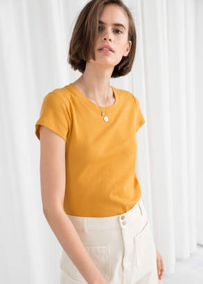 And other stories Cotton Micro Knit Top