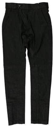 Alexandre Plokhov Waxed Drop Crotch Skinny Jeans w/ Tags