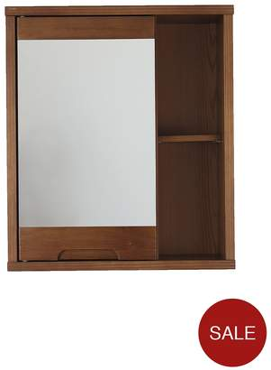 At Littlewoods Westbay Solid Wood Mirrored Bathroom Wall Cabinet