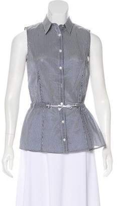 Armani Collezioni Striped Sleeveless Top