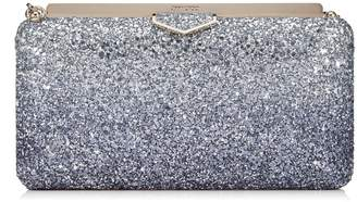 Jimmy Choo Medium Glitter Ellipse Clutch Bag