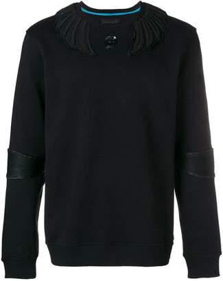 Frankie Morello appliqué detailed sweatshirt