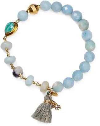 Chan Luu Tasseled Stone Stretch Bracelet