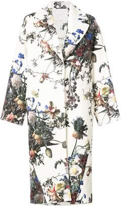 Floral Print Cocoon Coat