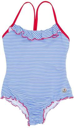 Moncler contrast-trim striped swimsuit