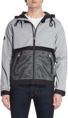 Bellfield Grey Color Block Hooded Jacket