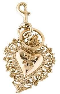 Givenchy Heart Charm Keychain