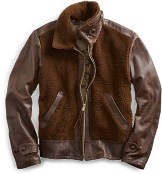 Ralph Lauren Leather-Shearling Jacket