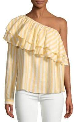 Saks Fifth Avenue RED Richelle One-Shoulder Cotton Top