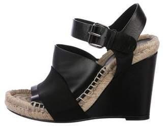 Balenciaga Leather Espadrille Wedges