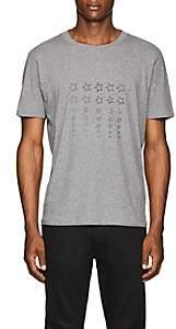 Saint Laurent Men's Star-Print Cotton T-Shirt - Light Gray