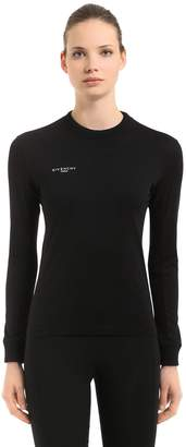 Givenchy Logo Detail Printed Jersey Sweatshirt