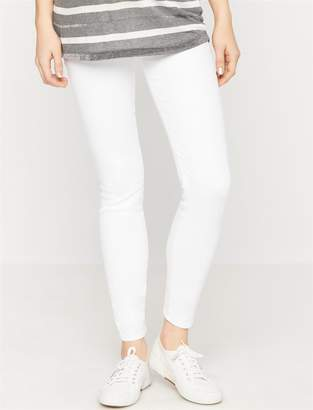 7 For All Mankind Secret Fit Belly B(air) Skinny Maternity Jeans- Clean White
