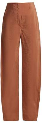 Lemaire Twisted Seam Silk Blend Trousers - Womens - Tan