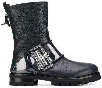 AGL buckled mid-calf boots