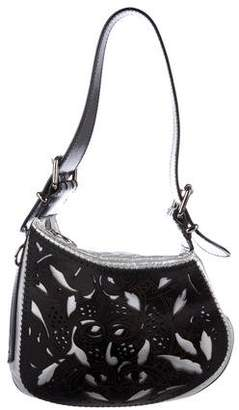 Fendi Metallic Leather Oyster Bag