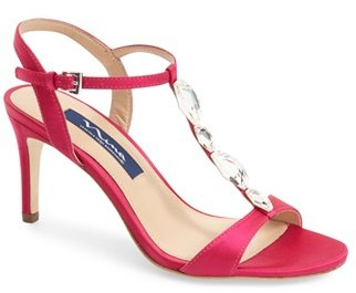 Nina 'Kasmira' Swarovski T-Strap Sandal (Women) $228.95 thestylecure.com