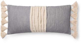 Loloi Natural & Grey Tassel Pillow