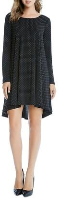 Karen Kane Silver Dot Maggie Trapeze Dress $118 thestylecure.com