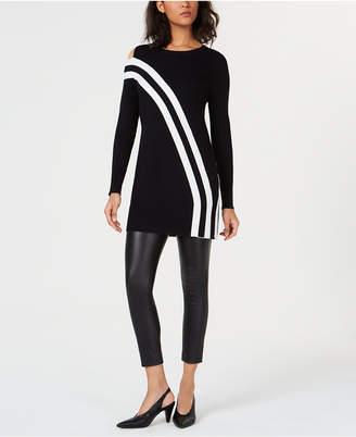 Bar III Asymmetric Striped Tunic Top, Created for Macy's