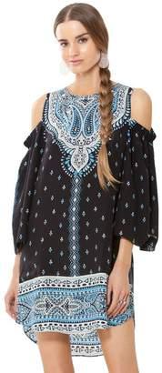 Hale Bob Eisley Rayon Woven Cold Shoulder Dress