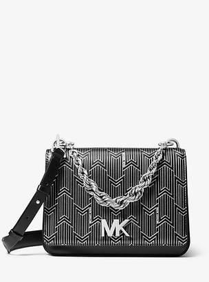 MICHAEL Michael Kors Mott Large Metallic Deco Leather Crossbody Bag