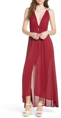 ASTR the Label Gauze Crinkle Maxi Dress