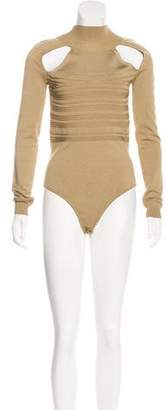 Cushnie et Ochs Knit Long Sleeve Bodysuit w/ Tags