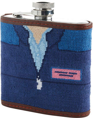Vineyard Vines x Smathers & Branson Shep Shirt Needlepoint Flask