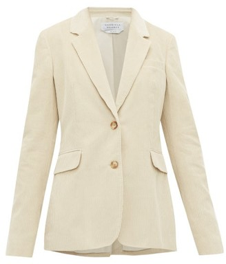 Gabriela Hearst Sophie Single Breasted Cotton Corduroy Blazer - Womens - Cream