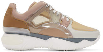Fendi Pink and Beige Translucent Vinyl Sneakers