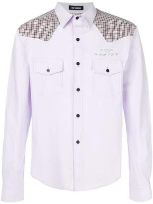 Raf Simons check panel shirt