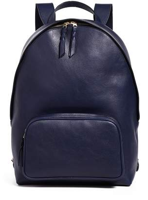 Lotuff Leather Leather Zipper Backpack