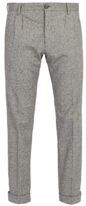 J.w. Brine - New Marshall Straight Leg Wool Blend Trousers - Mens - Light Grey