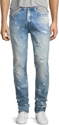 PRPS Lightweight Distressed Slim-Straight Jeans