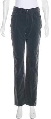 Versace High-Rise Straight-Leg Pants