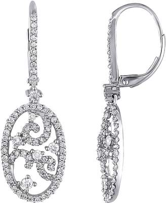 Affinity Diamond Jewelry Diamond Vintage-Style Earrings, 14K, 1 cttw, byAffinity