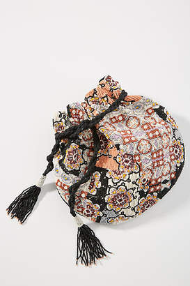 Anthropologie Beaded Pouch Clutch