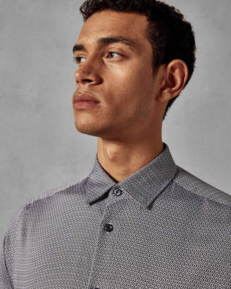 Ted Baker BROCCO Geo print cotton shirt