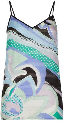 Emilio Pucci Nisida Print Silk Camisole