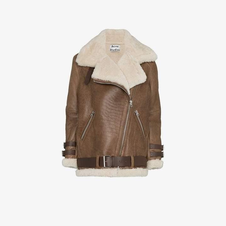 Velocite shearling flight jacket