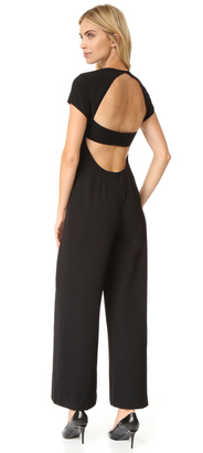 T by Alexander Wang Crepe Open Back Jumpsuit $550 thestylecure.com