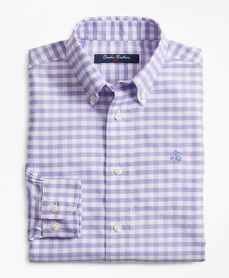 Brooks Brothers Boys Non-Iron Supima Cotton Gingham Sport Shirt