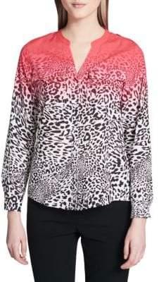 Calvin Klein Leopard Print Button-Down Shirt