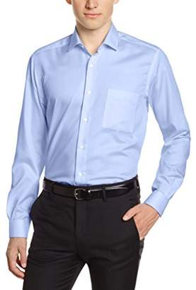Pierre Clarence Men's 1616797 Regular Fit Cutaway Long Sleeve Formal Shirt - blue - 45