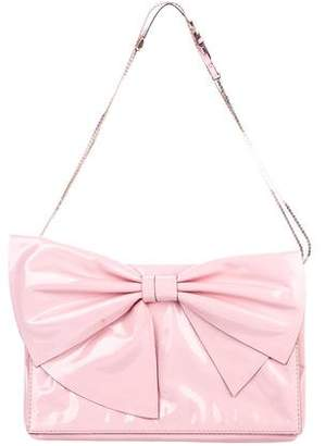 Valentino Patent Leather Bow Evening Bag""