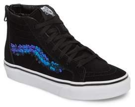 Vans Sk8-Hi Zip Sequin Stripe High Top Sneaker