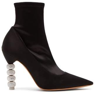 Sophia Webster Jumbo Coco Satin Ankle Boots - Womens - Black