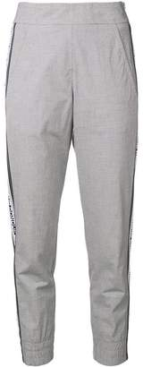 Dondup logo tape cropped trousers